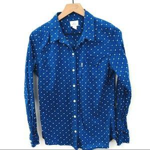 Levi's Blue White Bird Print Button Up Shirt M